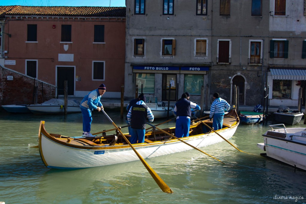 Boaters in Murano.