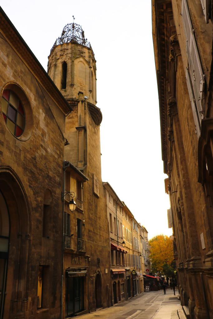 In der Innenstadt von Aix.