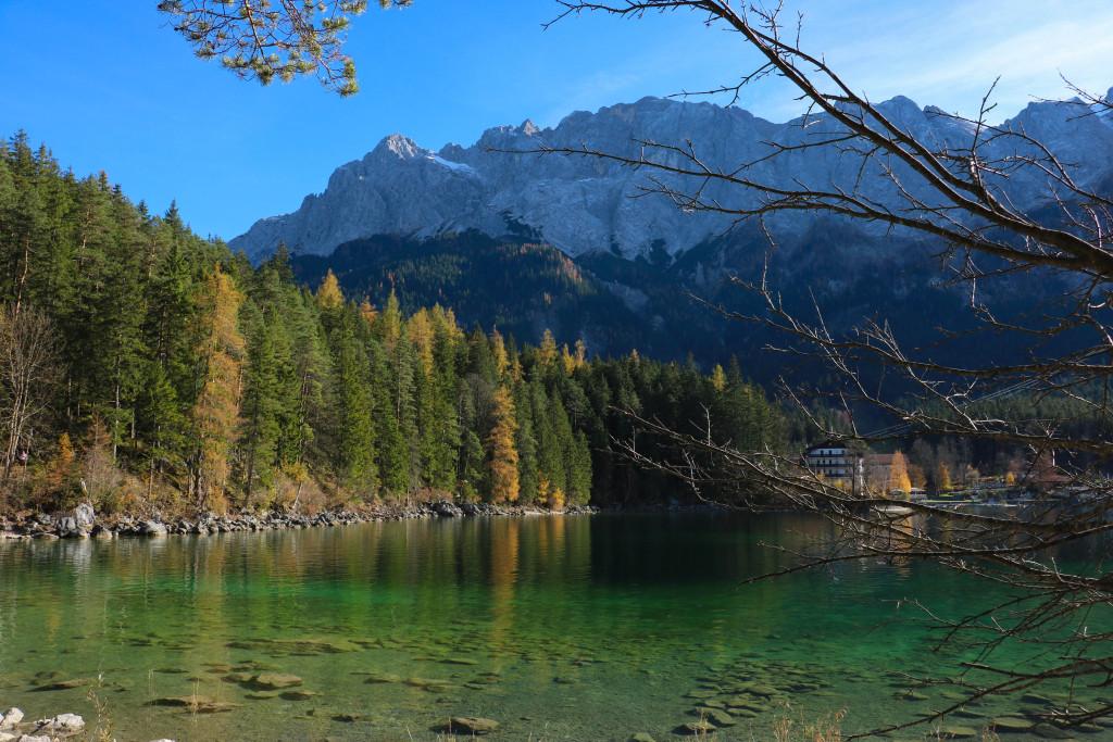 Le lac Eibsee.