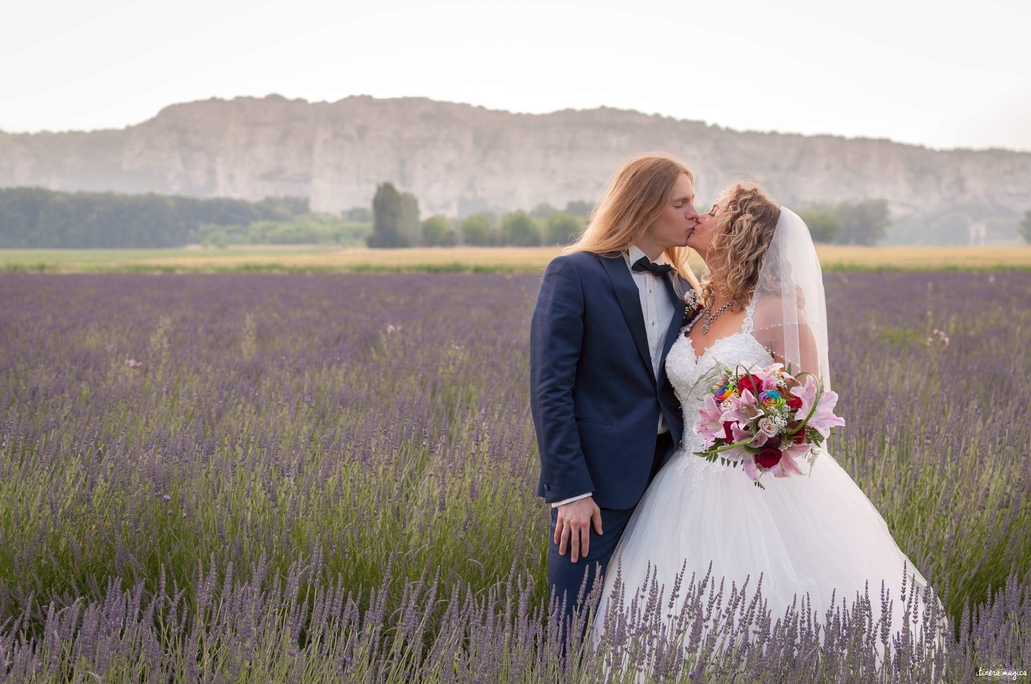 Our wedding in lavender fields in France