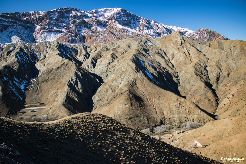Sur la route de Ouarzazate ou des cascades d'Ouzoud, road trip dans le sud du Maroc. Haut-Atlas