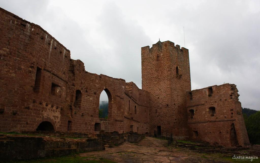 Die Ruinen des Schlosses von Wangenbourg.