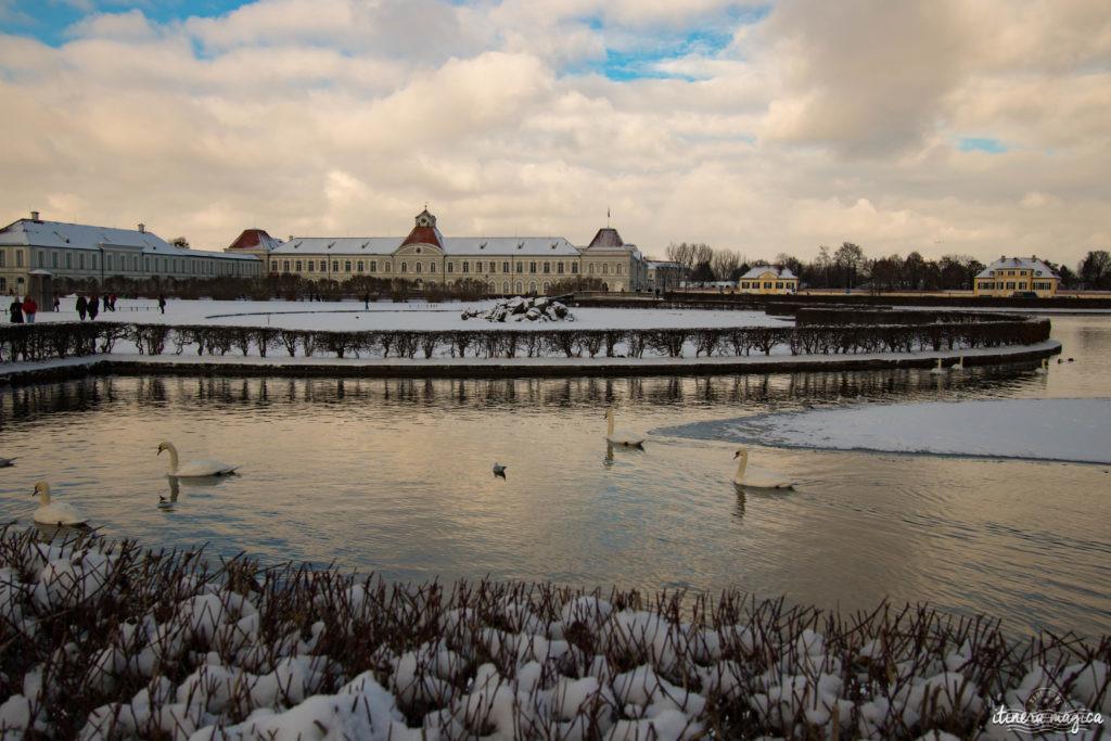 Château de Nymphenburg, Munich, sous la neige. Que faire en Bavière en hiver ?