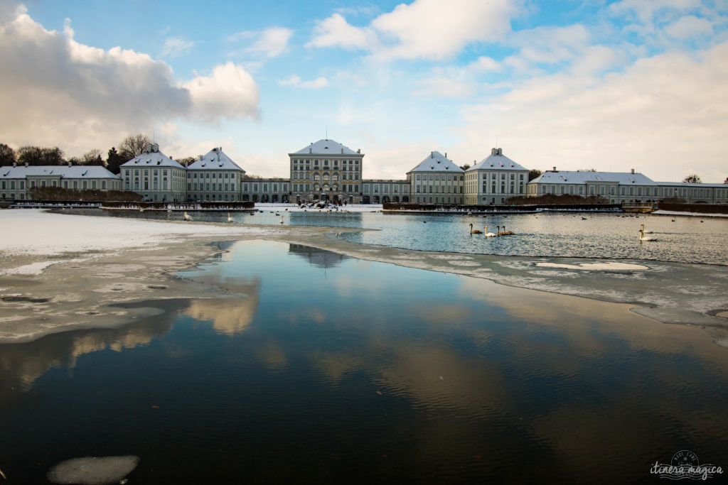 Découvrez la Bavière en hiver. Nymphenburg sous la neige
