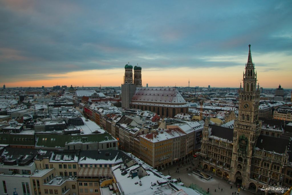 Munich, panorama Peterskirche