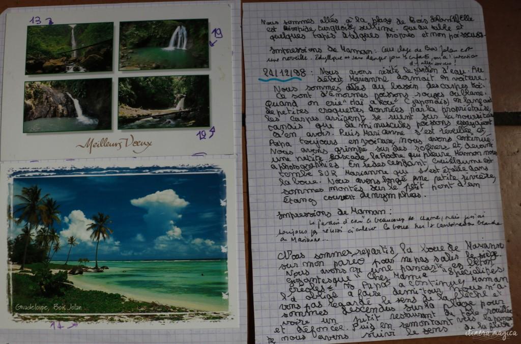 Extrait de mon premier cahier de voyage.