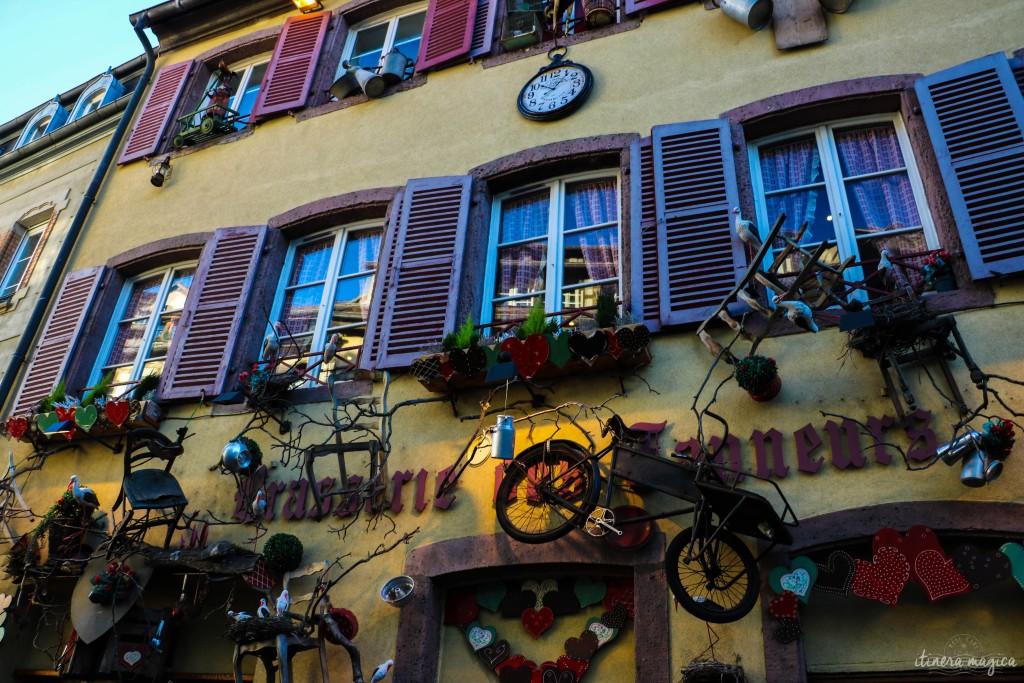 Eine Fassade in Colmar.