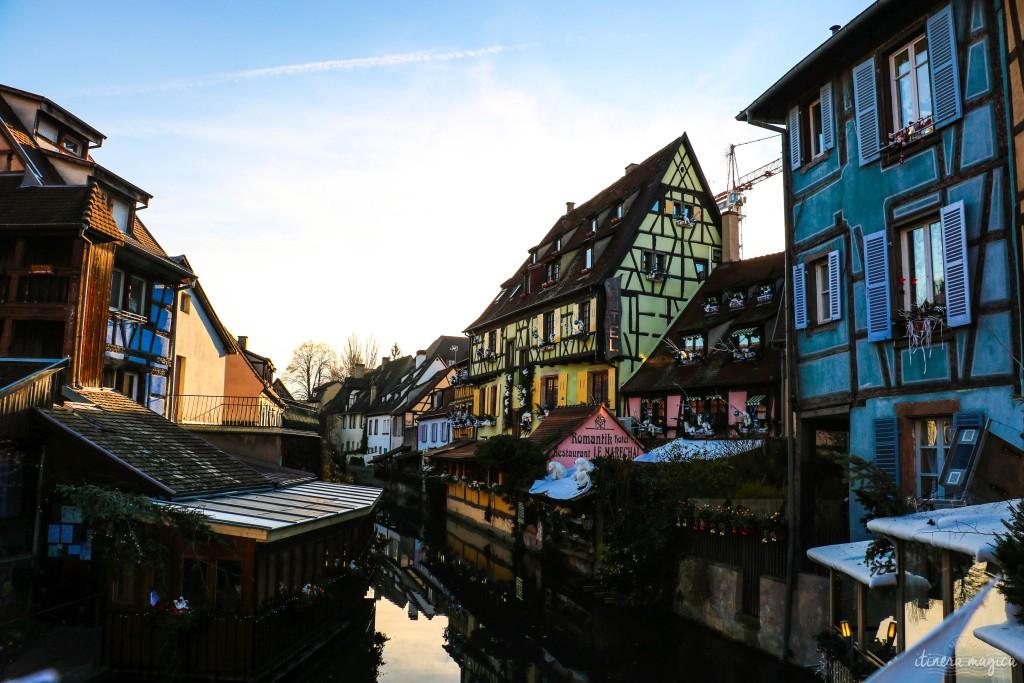 """Kanäle von Colmar - """"klein Venedig"""" heisst (natürlich) das Viertel."""
