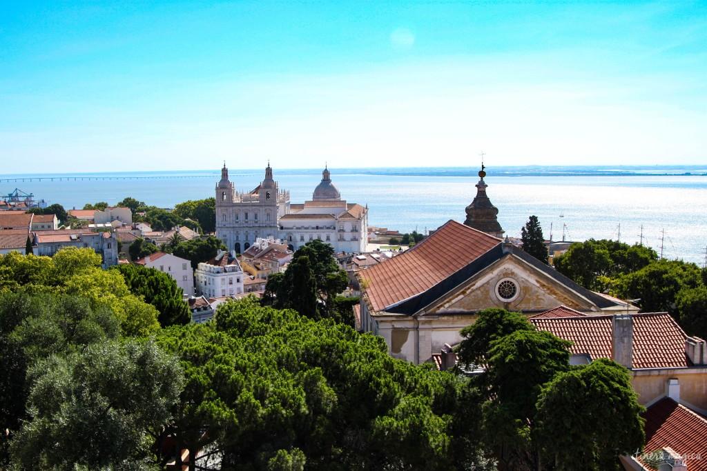 Lisbonne, vue depuis le château.