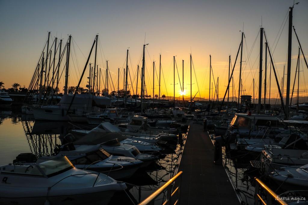 Coucher de soleil dans le port de Saint Raphaël.