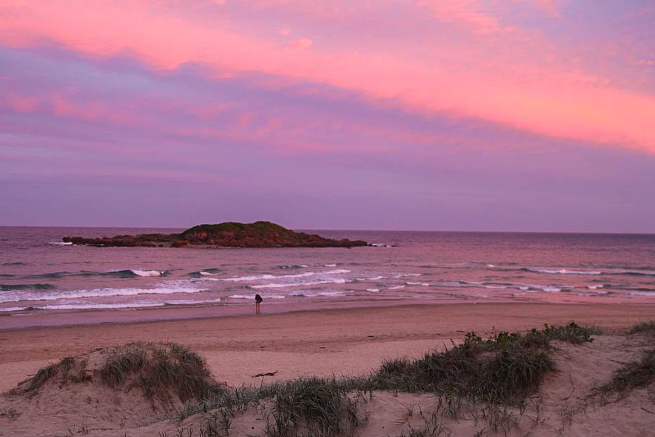 sunset coucher de soleil gold coast australie port stephens