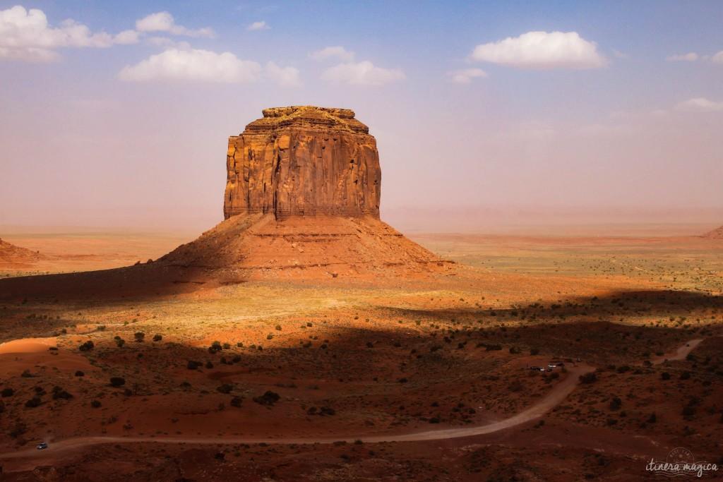 Ombre et lumière à Monument Valley.