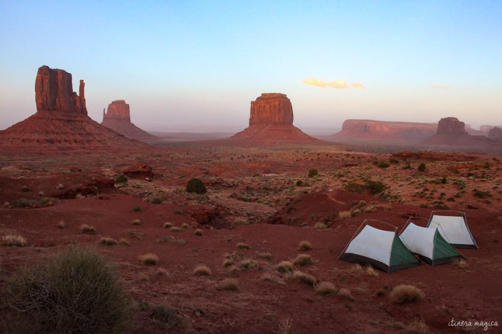 Nos tentes à Monument Valley.