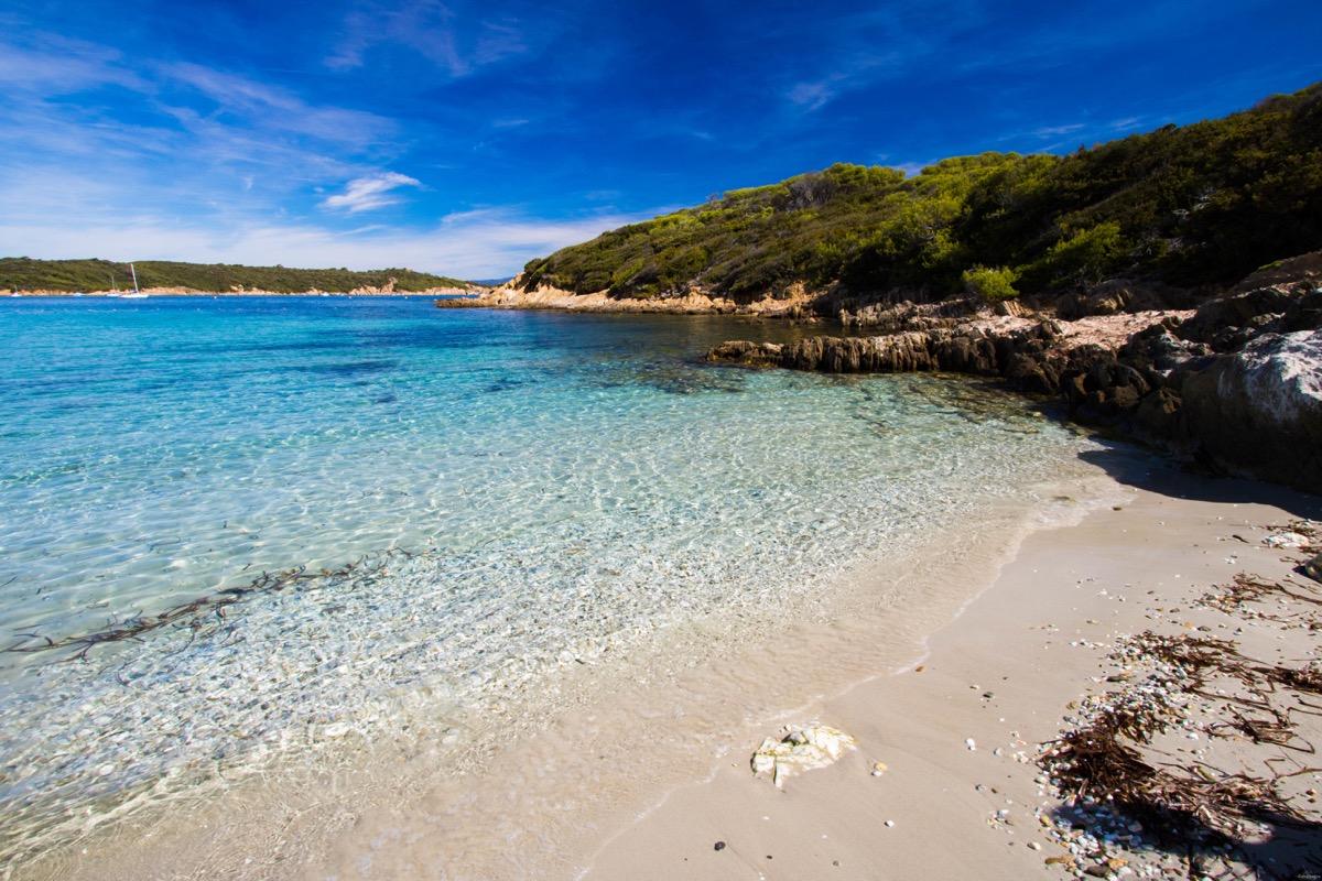 La plage du sud, Port Cros