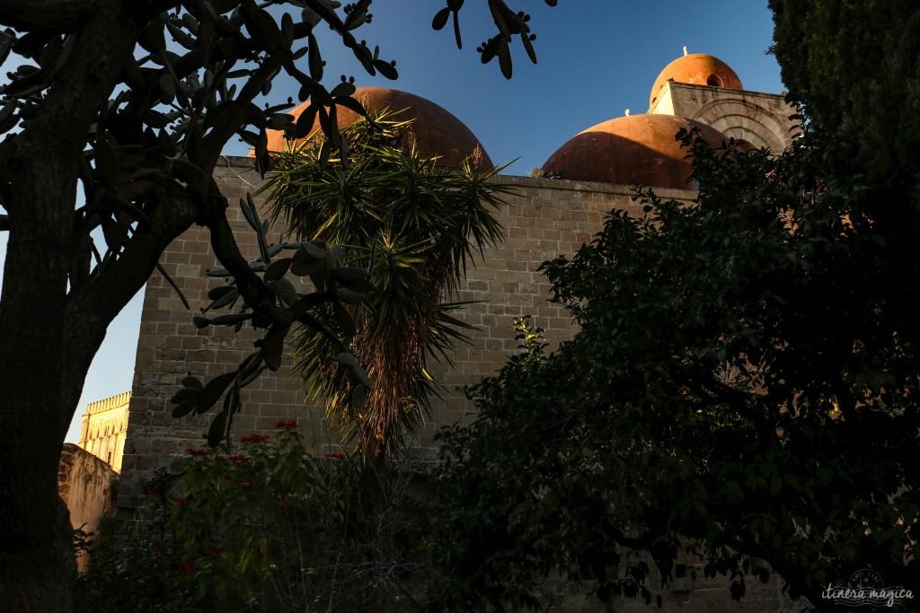 Garten der byzantinisch-arabischen Kirche San Giovanni degli Eremiti.