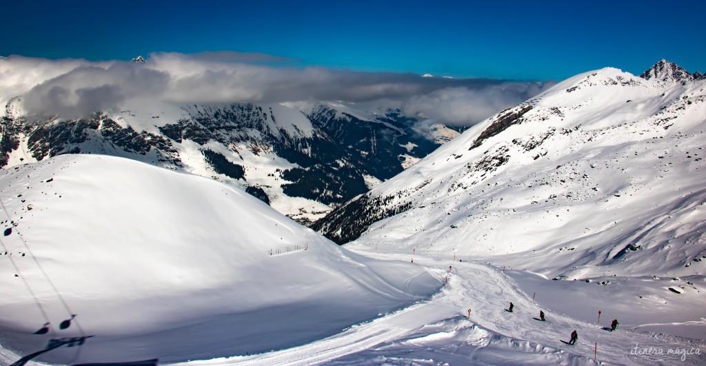 Au sommet du glacier.
