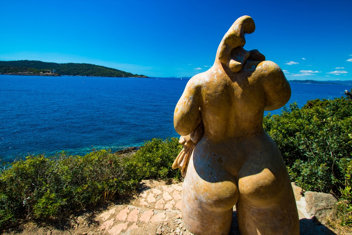 Better than a nudist beach in France : a nudist island on the French  Riviera !