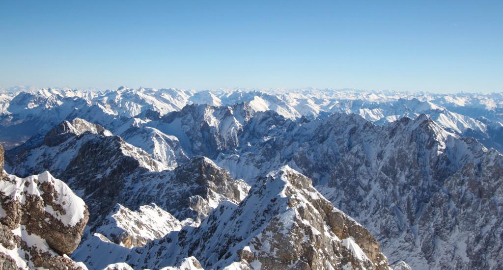 alpes bavière zugspitze ski neige