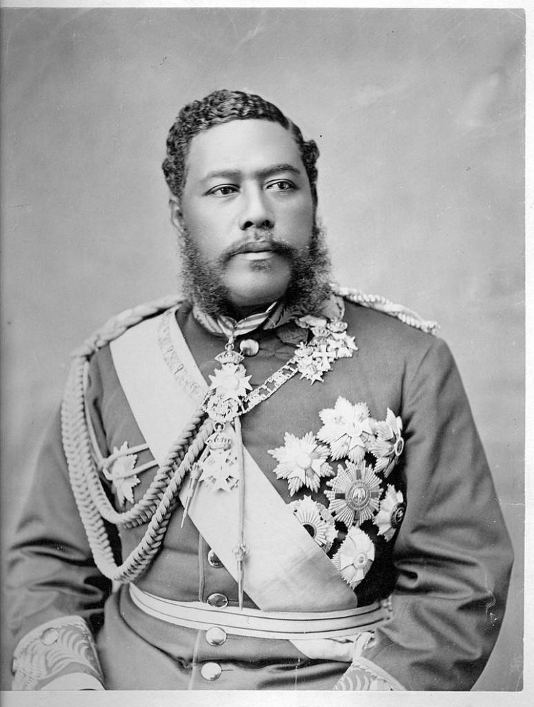 David Kalakaua, le dernier roi hawaïen.