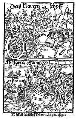 Dürers Titelblatt für das Narrenschiff.