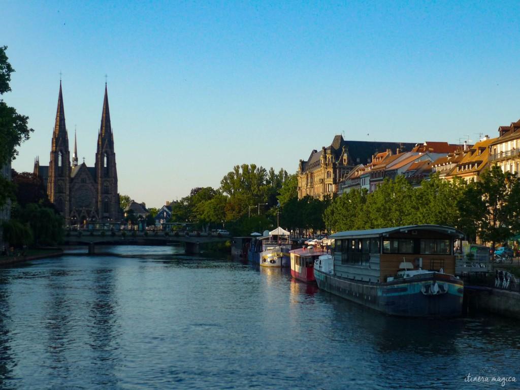 elsass Straßburg kanal kirche
