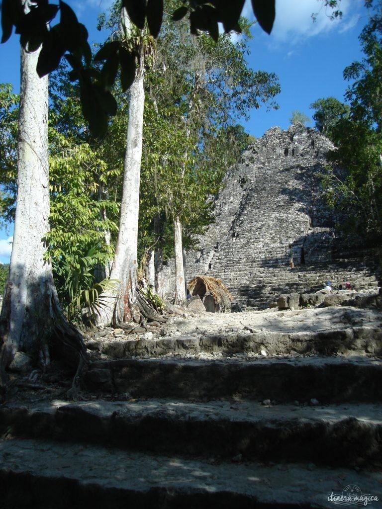 Ville maya en ruines dans le Yucatan.
