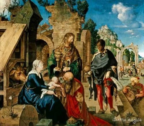 L'Adoration des Mages, d'Albrecht Dürer, à la galerie des Offices de Florence.