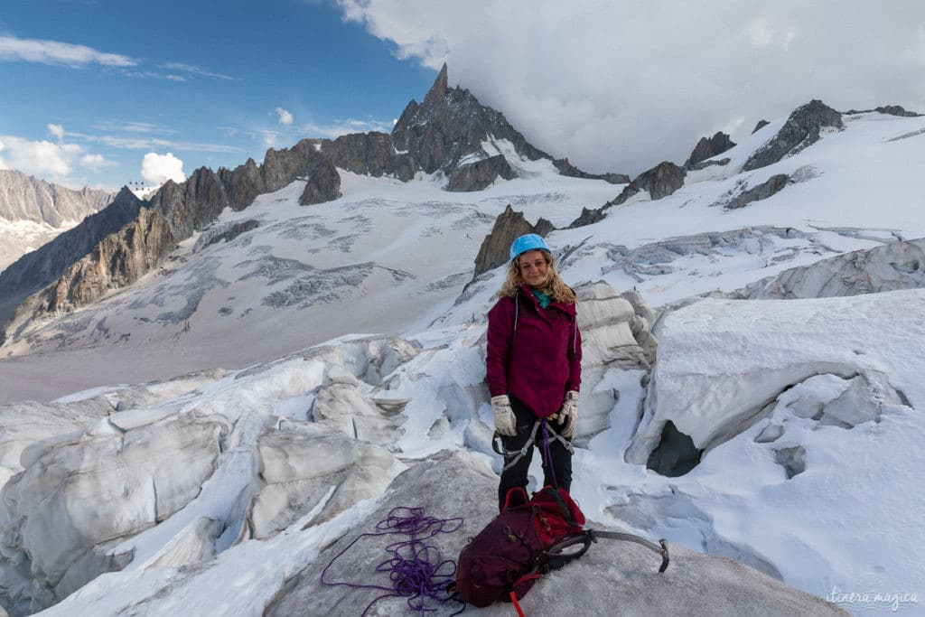 Première expérience d'alpinisme, avec la compagnie des guides de Chamonix