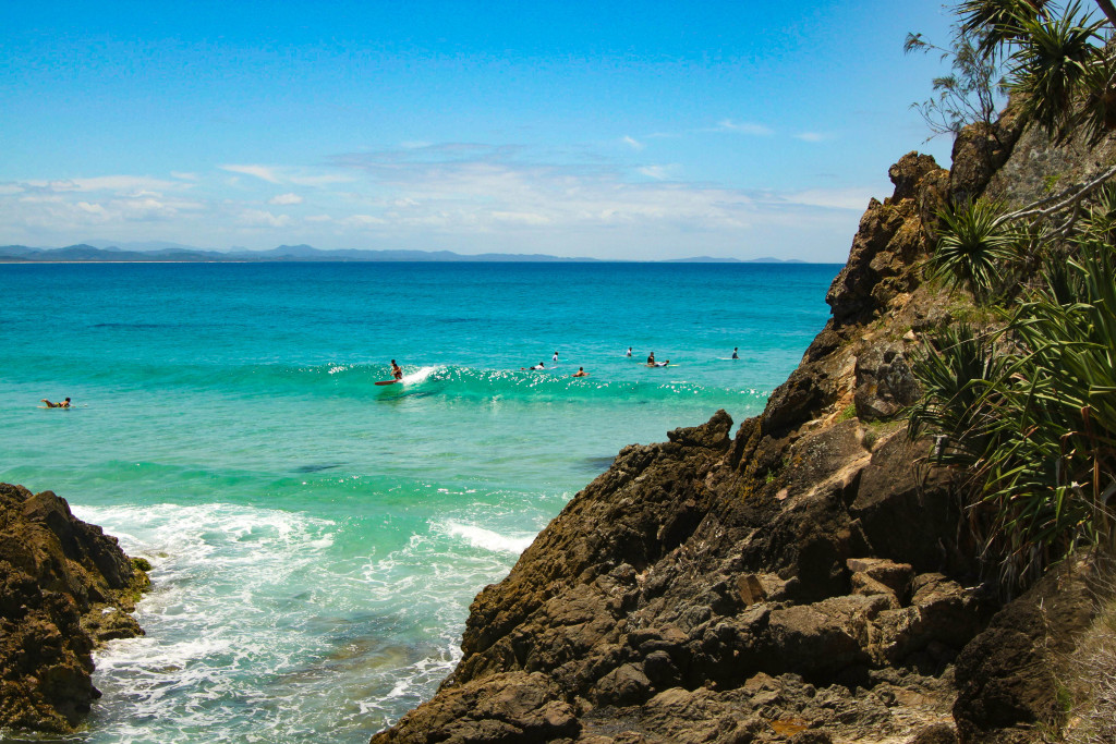 byron bay surfeurs gold coast plage de rêve australie vague