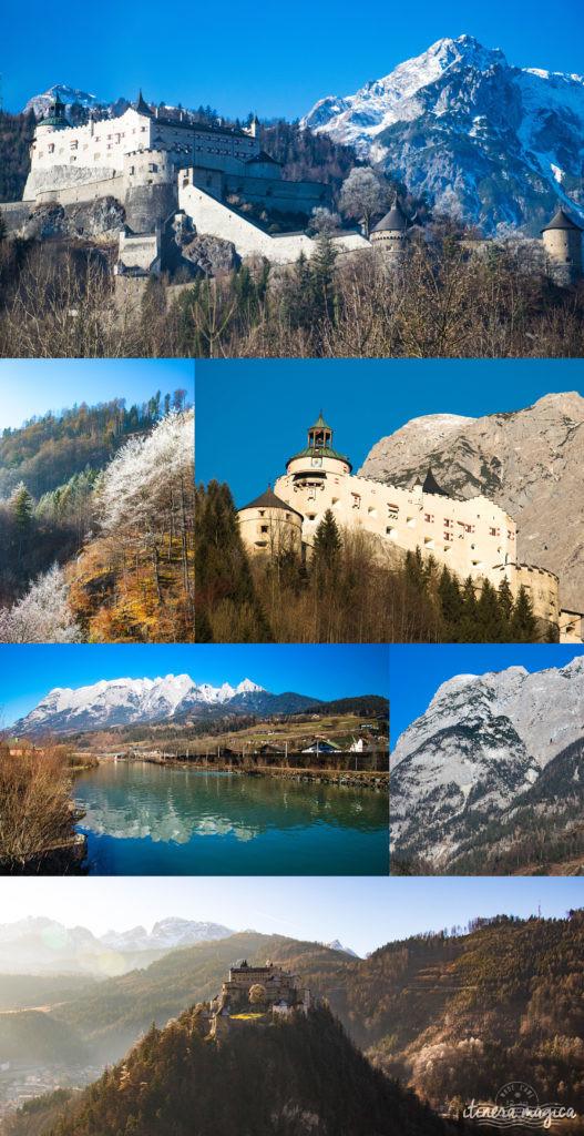 Château d'Hohenwerfen. Itinéraire romantique en Autriche : un voyage de rêve entre Salzbourg, Innsbruck, le château Hohenwerfen, les cascades de Krimml et un hôtel spa romantique.