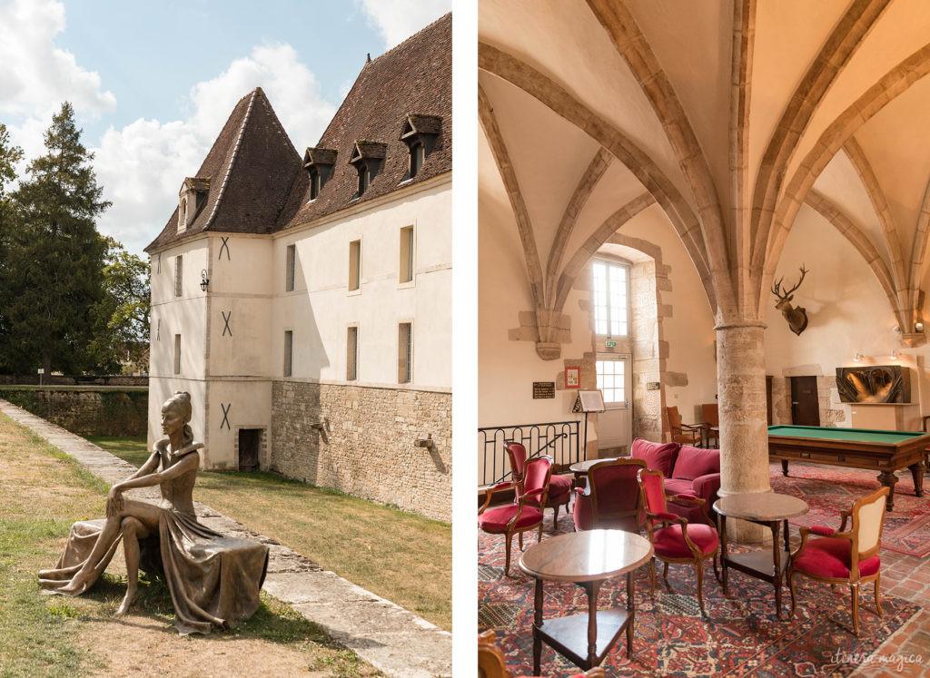 Le château de Gilly, sur la route des grands crus entre Dijon et Beaune
