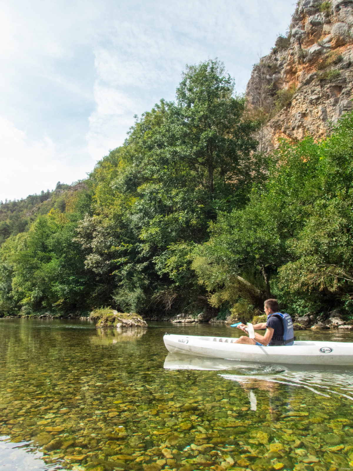 Kayak au coeur des gorges du Tarn