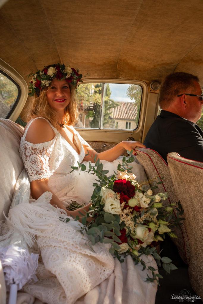 mariage voiture ancienne en provence