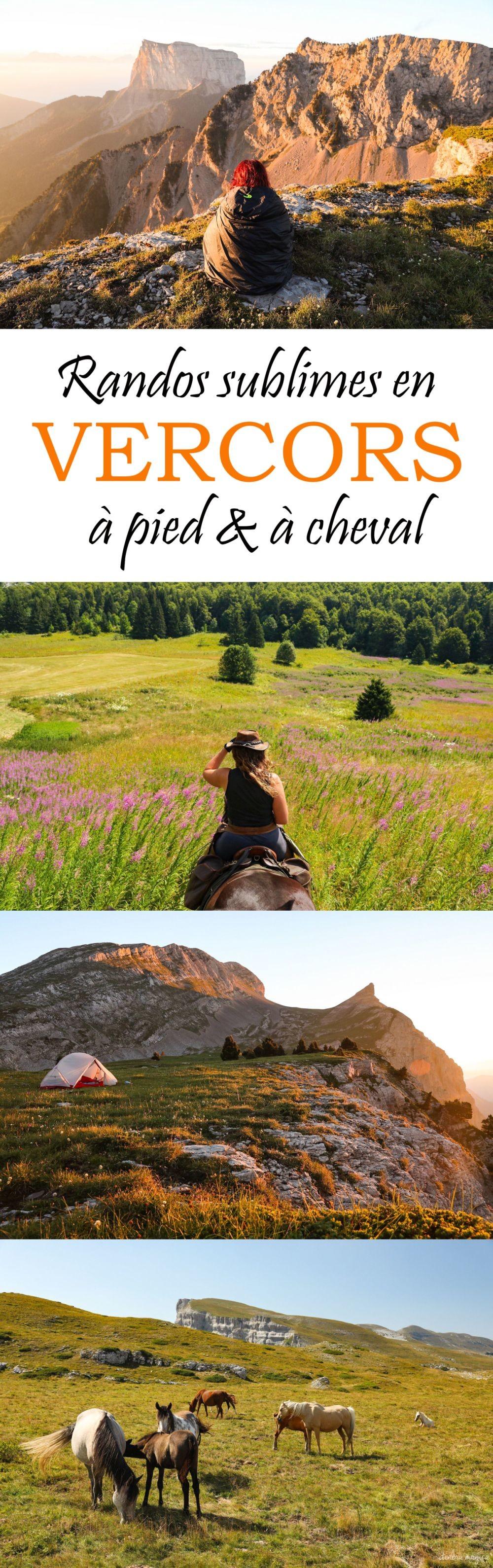 Randonnées sublimes à pied et à cheval dans le #Vercors. #alpes #france