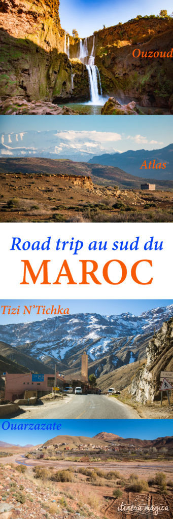 Sur la route de Ouarzazate ou des cascades d'Ouzoud, road trip dans le sud du Maroc. Tizi N'Tichka, Haut-Atlas...