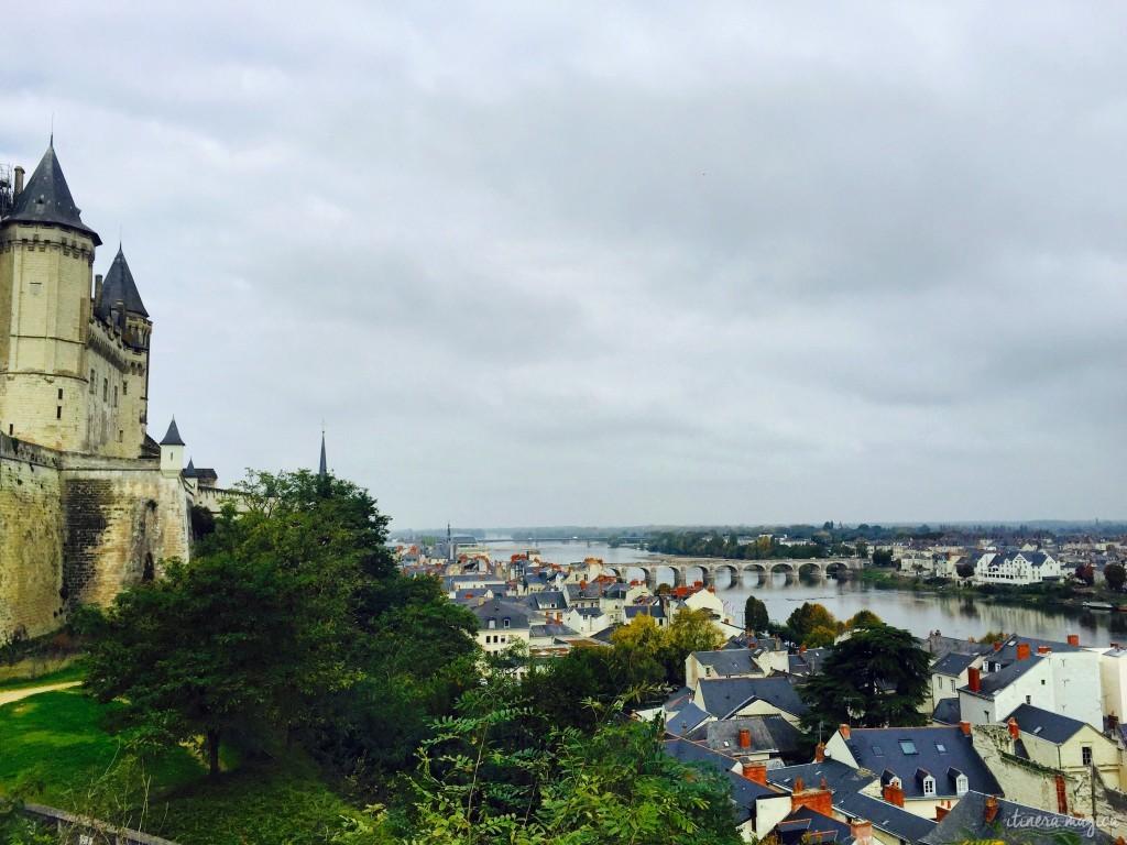 Vue sur Saumur depuis le château