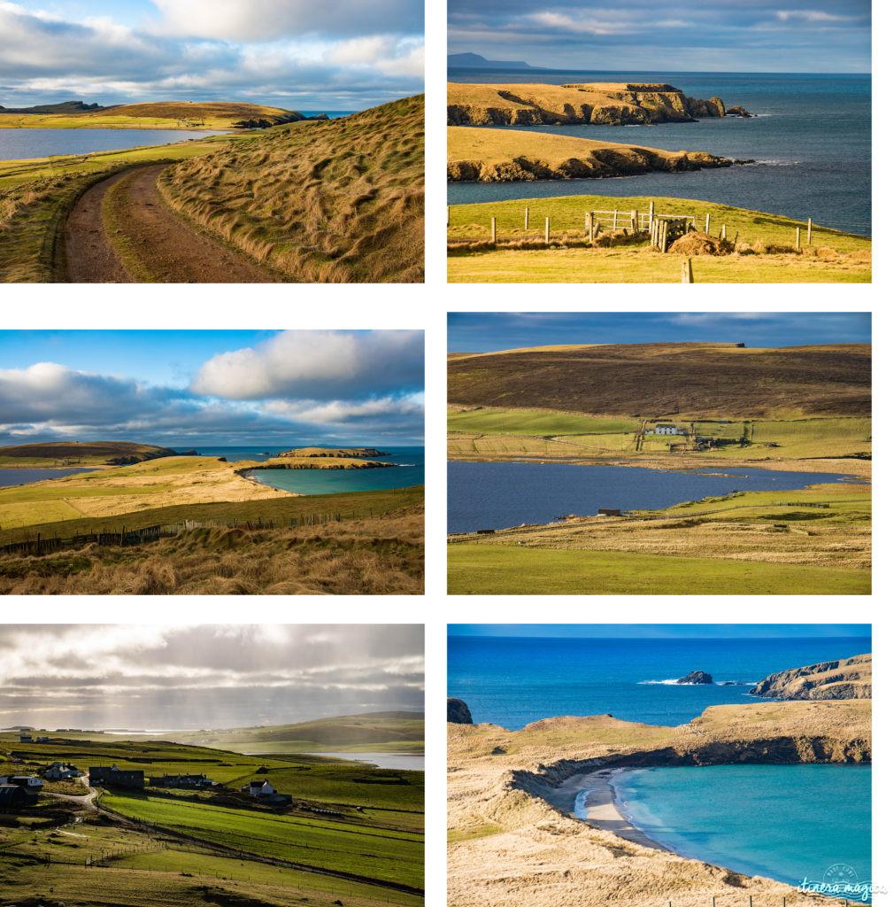 Plages de rêve à Shetland. Belles plages Shetland. Blog Shetland