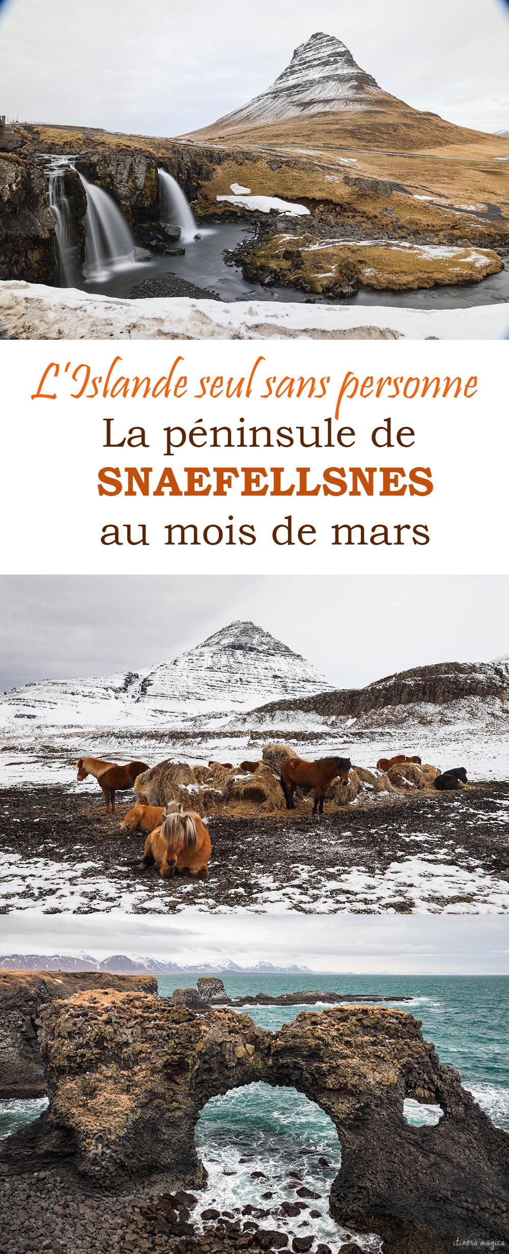 Retrouver l'Islande sans personne ? Allez à Snaefellsnes en mars ! Paysages sublimes et solitude grandiose...