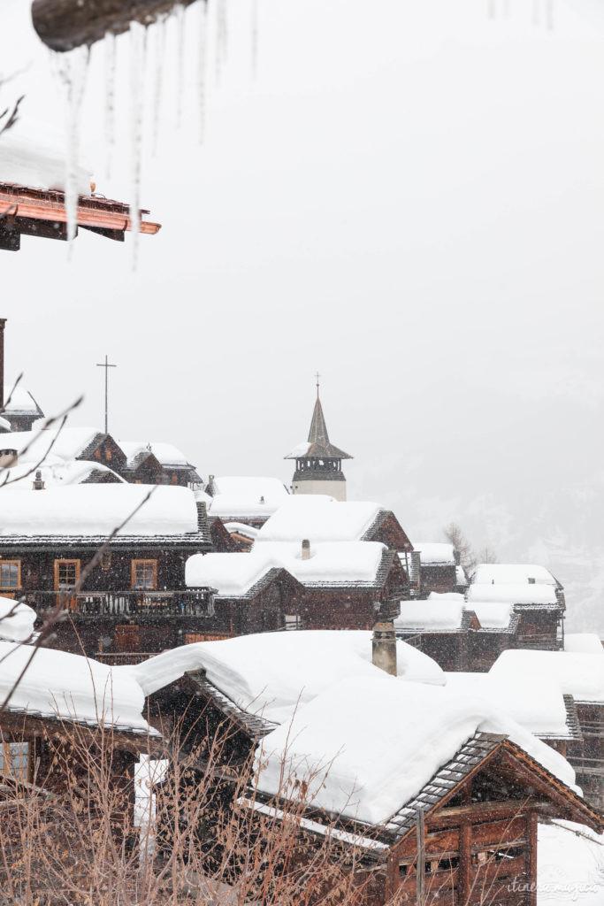 Suisse en hiver grimentz