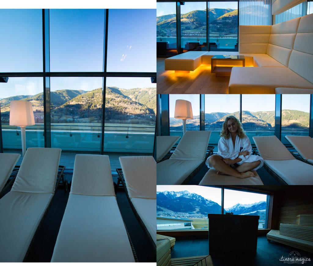 Le meilleur hôtel spa d'Autriche ? Le Tauern Spa Kaprun. Fabuleuse piscine donnant sur les Alpes, saunas, grand luxe, parc aquatique alpin de rêve.