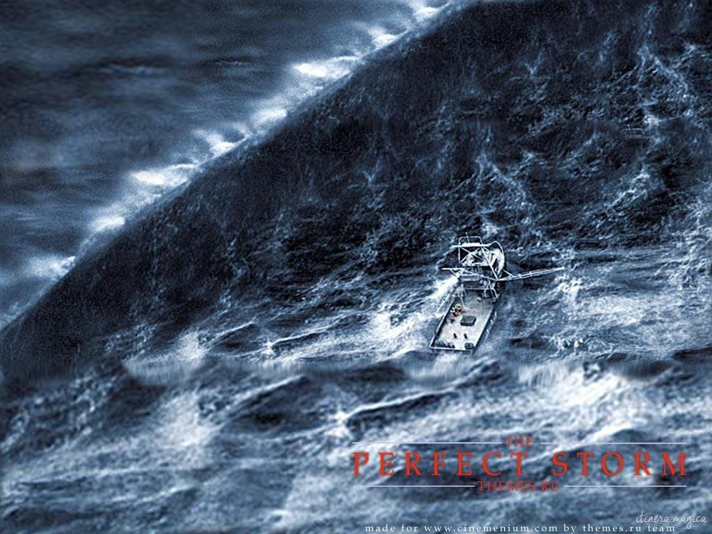 A rogue wave, as recreated in the movie The perfect storm.