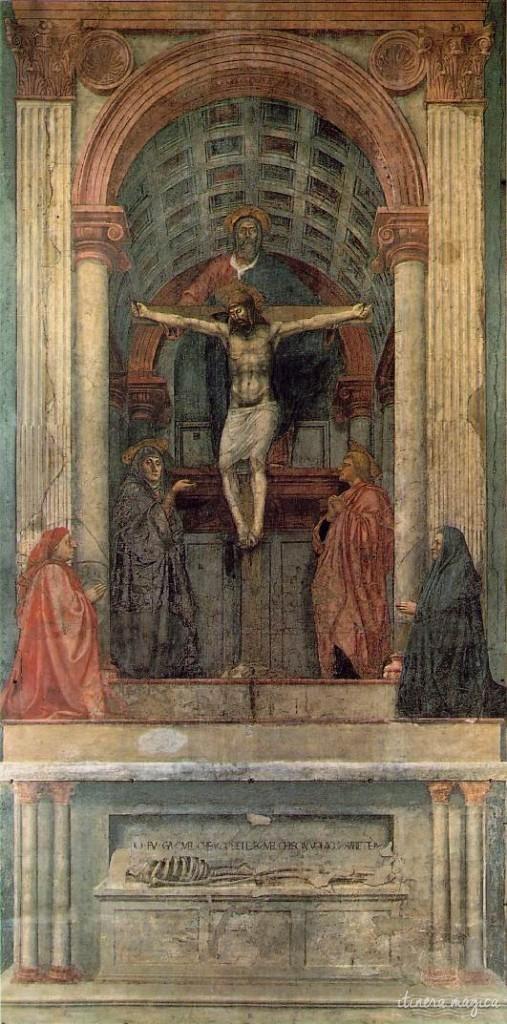 Trinité de Masaccio, à Santa Maria Novella.