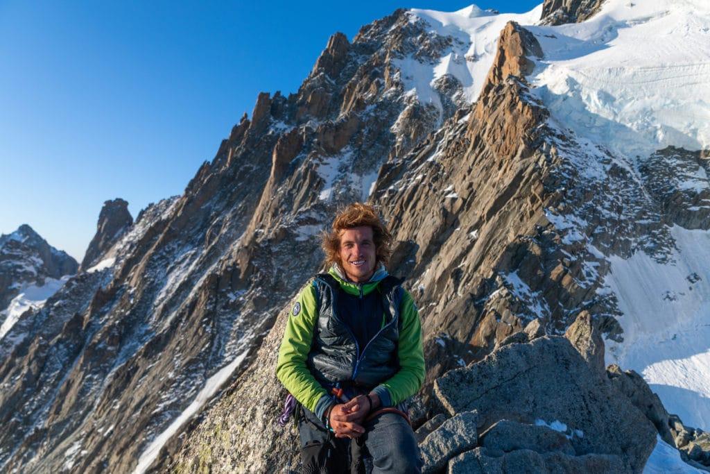 Tristan Knoertzer, membre de la compagnie des guides de Chamonix