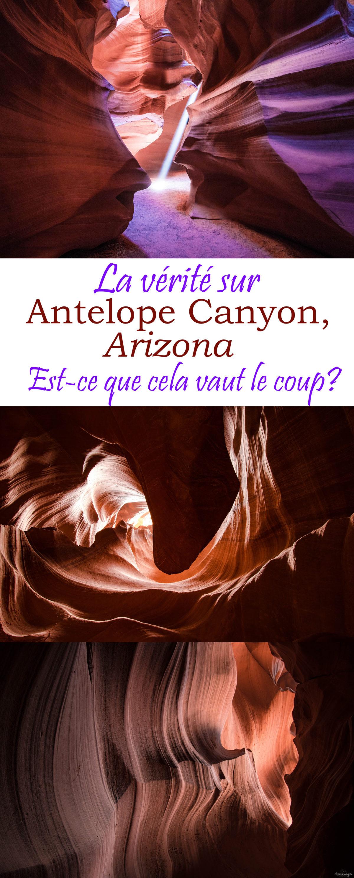 Visiter Antelope Canyon en Arizona : ça vaut le coup ou pas ? Conseils pour visiter et photographier #antelopecanyon. #arizona #usa