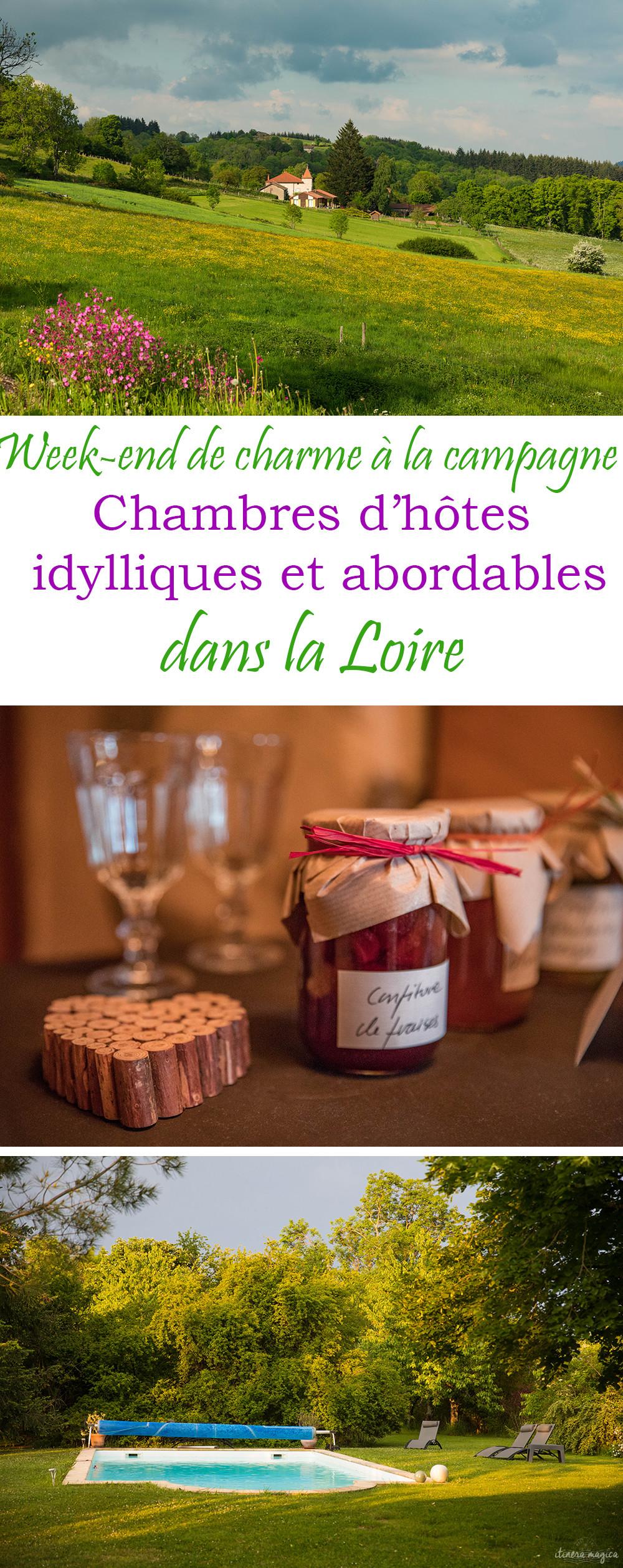 Un week end romantique dans la Loire, au sud de Lyon ? Voici une sélection de chambres d'hôtes abordables et idylliques. #loire #france